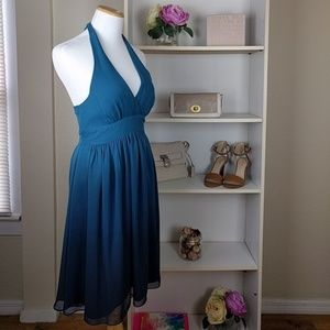 Express Blue Ombre Halter Dress  SZXS Vintage
